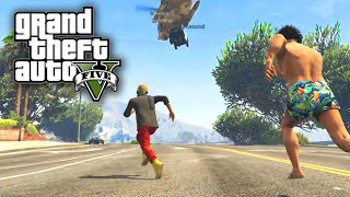 GTA 5 PC Online Funny Moments With THE PACK! BANTER BUS & Helicopter Extraction!
