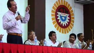 Discurso de Héctor Paniagua en Sección 42 Gastrohoteleros de la CTM