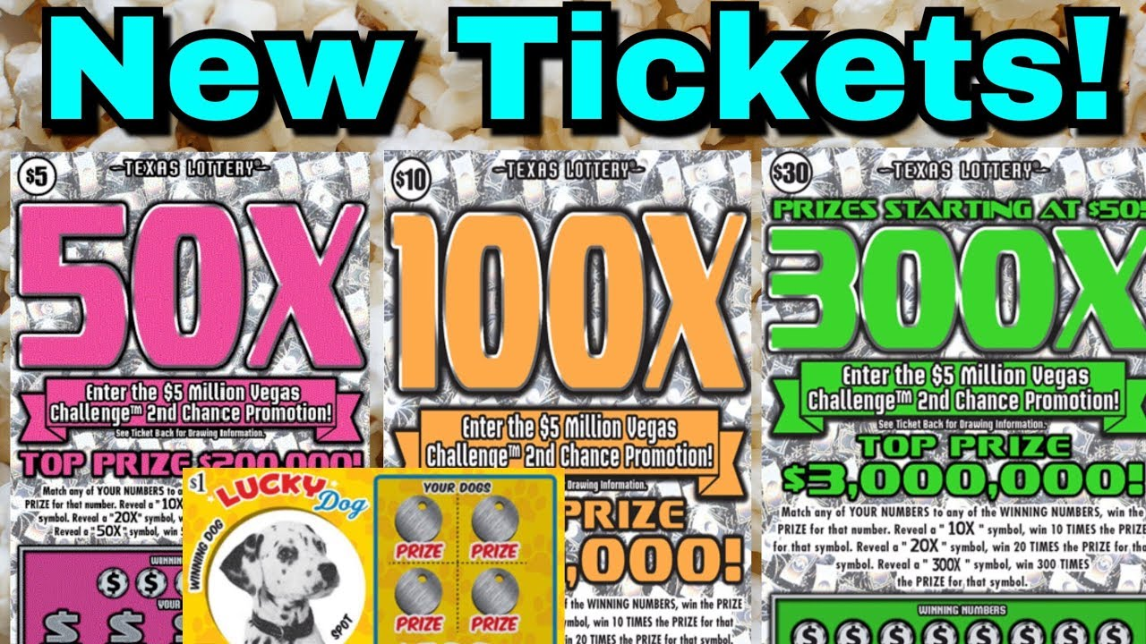 NEW TICKETS! THEY ARE SO PRETTY! $30 300X, $10 100X, $5 50X Texas Lottery