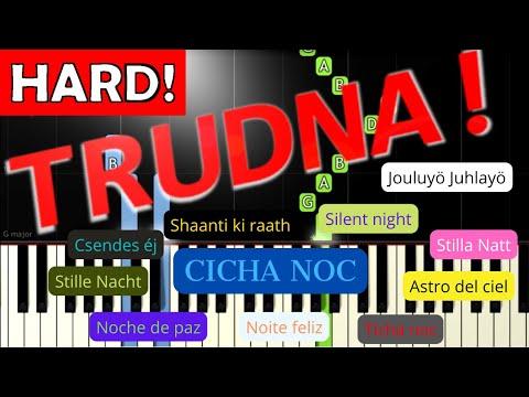 🎹 Cicha noc - Piano Tutorial (TRUDNA! wersja) (HARD! SILENT NIGHT) 🎹