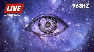 OPEN YOUR TH RD EYE  963hz FREQUENCY MUS C  P NEAL  GLAND  ACT VATE KUNDAL N   CHAKRA OPENER