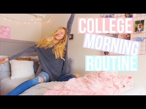 college morning routine // vlogmas 9