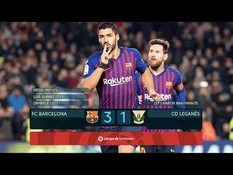 Barcelona vs Leganes [3-1], La Liga 2019 - MATCH REVIEW