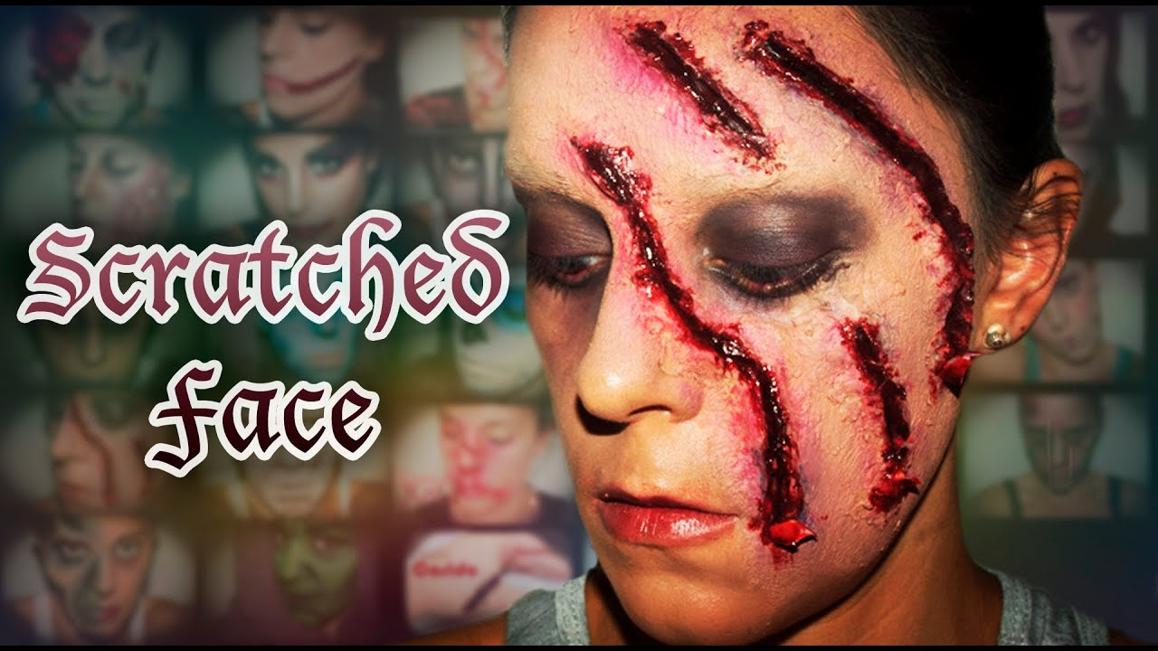 halloween fx makeup scratched face silvia quiros youtube - Halloween Effects Makeup
