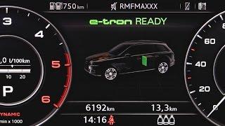 Audi Q7 e-tron - przepływ energii, sposób działania hybrydy :: [1001cars]