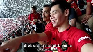 ICC SINGAPORE 2019, CHANT SUPORTER INDONESIA MENGGEMA DI LAGA MAN UTD VS INTER MILAN. #JDH04