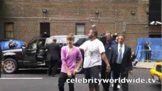 Justin Bieber at Late Show with David Letterman in NYC