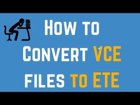 Convert VCE To ETE
