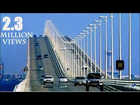 Bahrain Saudi Sea Bridge I Longest Sea Bridge of Asia 2018-2019 HD
