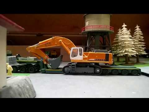 Daf XF brings the liebherr 974 back to home 1:87/h0