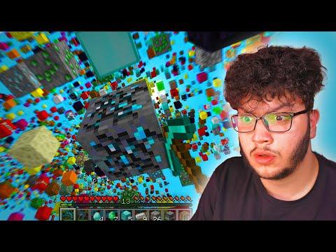 بلعب ماين كرافت بس بتمطر بلوكات عشوائية Minecraft