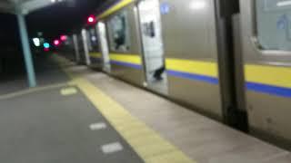 総武本線各駅停車209系2000番台同士の連結発車❗