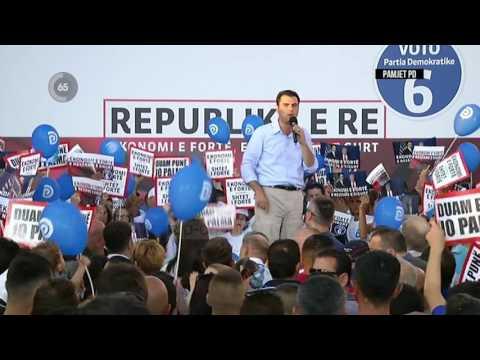 Basha në Lushnje: Ja pse duhet të na votoni! - Top Channel Albania - News - Lajme