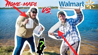 HOMEMADE vs. WALMART Bass Fishing JUG LINES!