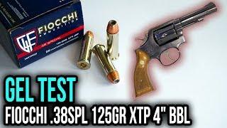 """Fiocchi .38spl 125gr XTP 4"""" BBL Gel Test Review"""