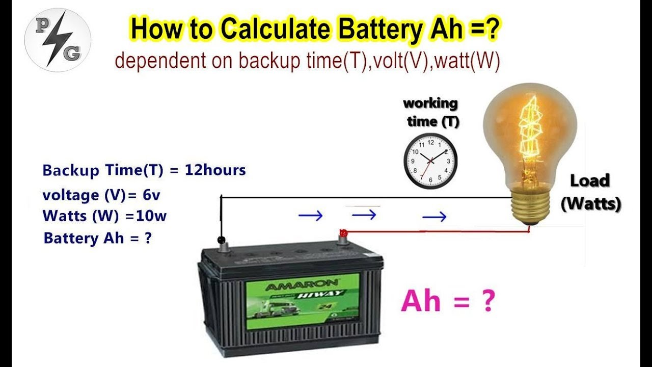 How To Calculate Battery Capacity Ah Dependent On Backup Time T Volt V Watt W Part 3