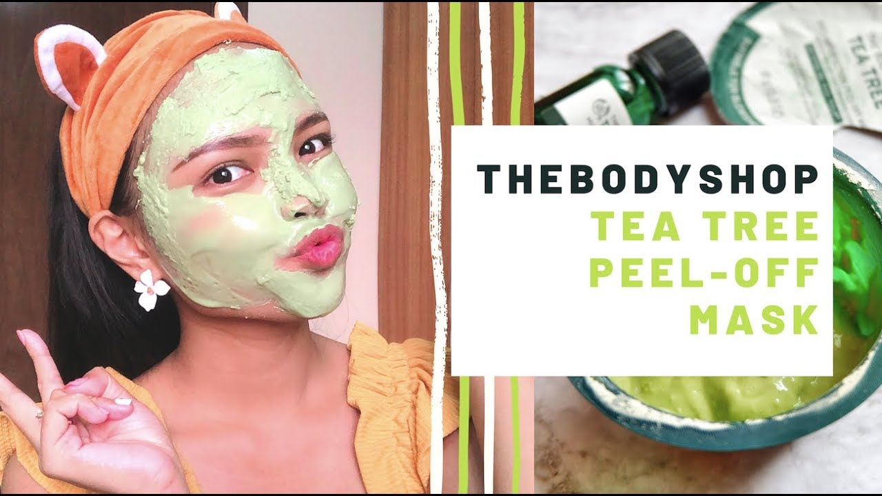 REVIEW: The Body Shop Tea Tree Peel-Off Mask - YouTube