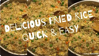 Delicious homemade fried rice/ easy / quick video