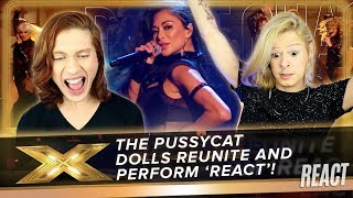 REACT The Pussycat Dolls REUNITE and perform new song 'React'! | Final | X Factor: Celebrity