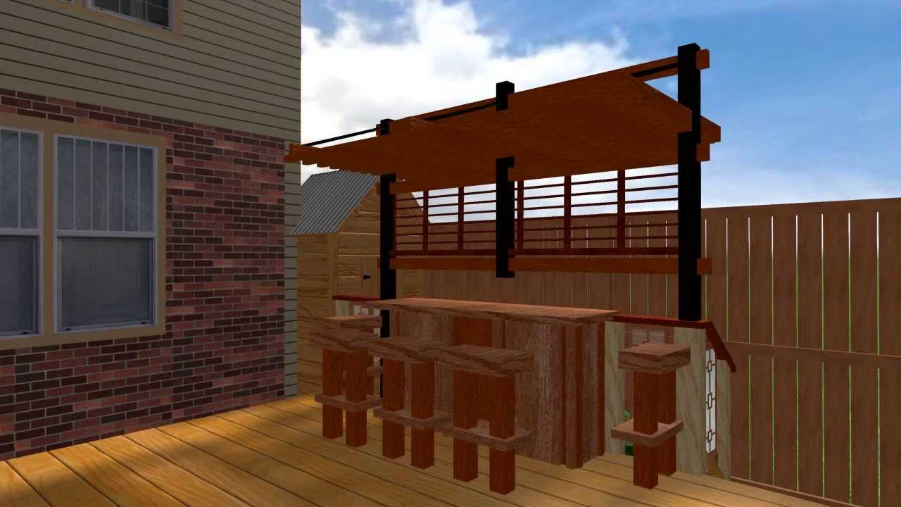 Karoline Zen Pergola And Bar On Deck Youtube