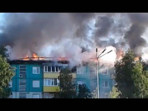 В Нижневартовске устанавливают причину пожара в многоквартирном доме