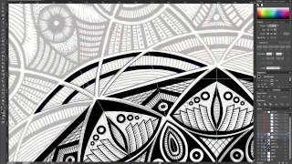 Time Lapse #2 - Converting a Mandala to Vector in Adobe Illustrator [VII Studios x i.am.electric]
