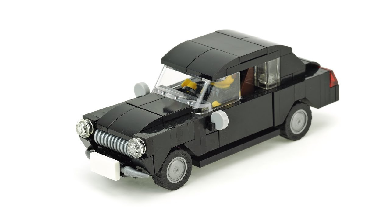 Lego Old Car Volga Moc Building Instructions Youtube