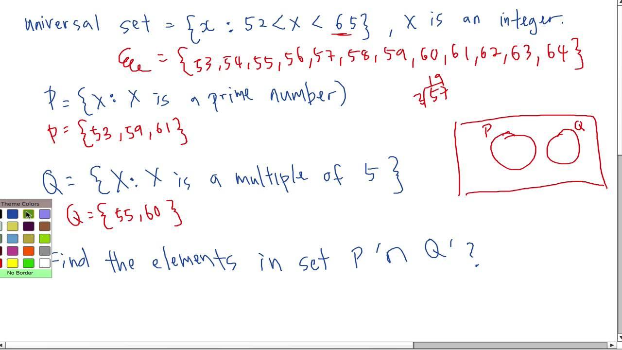 SPM - Form 4 - Modern Math - Set (Short question) - YouTube