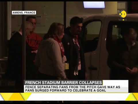 29 injured as stadium's barrier collapses in French city of Amiens