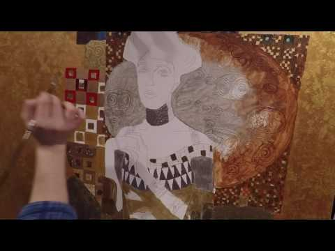 How to Paint Klimt's Woman in Gold (Adele Bloch-Bauer)