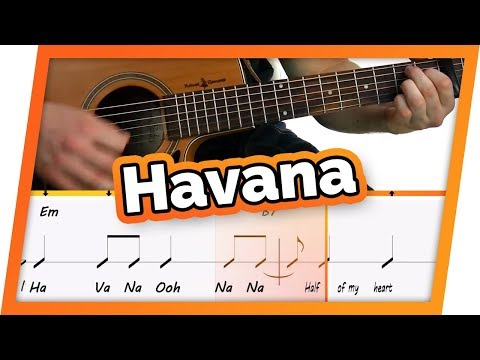 Havana - Camila Cabello - Guitar Play Along/Karaoke // Easy Chords For Beginners