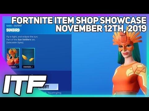 Fortnite Item Shop SUNBIRD IS BACK! [November 12th, 2019] (Fortnite Battle Royale)