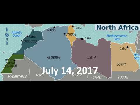I كلم الدول:  MOROCCO, ALGERIA, TUNISIA, LIBYA AND EGYPT .. the nations of Africa