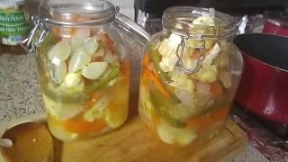 Escabeche... Verduras En Vinagre!