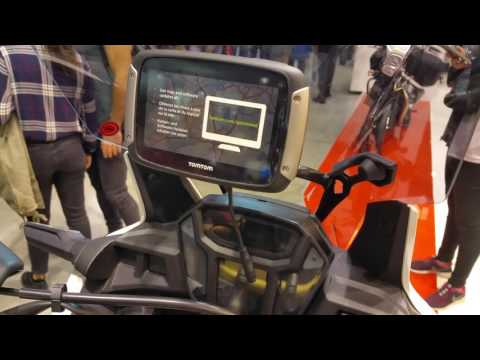 Honda Africa Twin with Givi TomTom mount at EICMA 2016