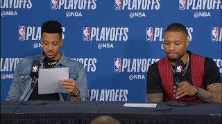 Damian Lillard & CJ McCollum Postgame Interview - Game 4 | Nuggets vs Blazers | 2019 NBA Playoffs