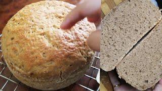 आटे की ब्रेड घर पे बनाएँ  100%whole wheat bread recipe