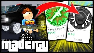 Buying The SWAT & HEAVY WEAPONS Robux Packs! (RPG, AWP) | Mad City Roblox