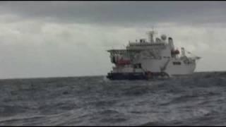 MarioB Tug and Badaro Accomodation in bad sea AdriaticLng