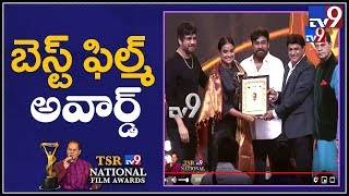 Best Film award 2018 received by Priyanka Dutt @ TSR-TV9 National Film Awards - TV9