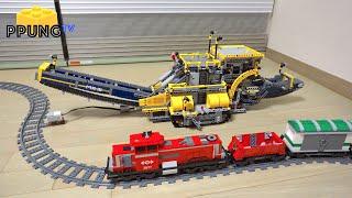 figcaption LEGO Technic 42055 B model - EV3 MOD & Cargo train by 뿡대디