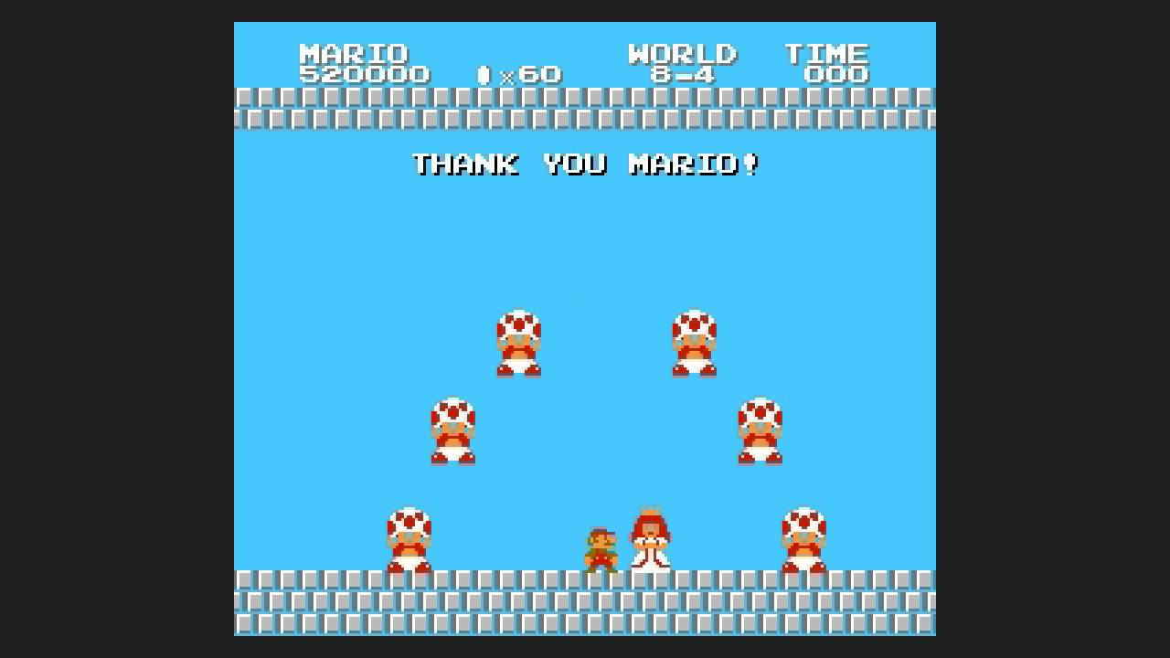 Super Mario Bros 2 The Lost Levels Ending Famicom Nes In