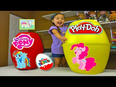 My Little Pony Biggest Surprise Eggs Ever Play Doh