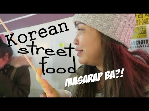 NAGTRY NG STREET FOOD SA KOREA - anneclutzVLOGS
