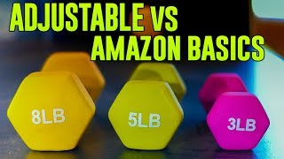 Amazon Basics Weights vs Adjustable Weights? For Home USE - PROJECT WOOP