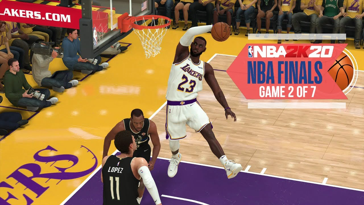 Nba 2020 Virtual Playoffs Lakers Vs Bucks Nba Finals Game 2 Los Angeles Vs Milwaukee Nba 2k Youtube