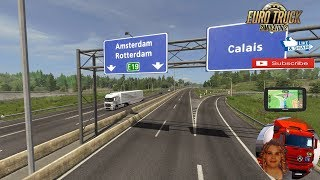 Euro Truck Simulator 2 (1.35)   Rotterdam Brussel Highway with Calais Duisburg Road Interchange v2.3 by elitegamer0611 Mercedes Benz Actros by SCS AeroDynamic Trailer Concept by AM + DLC's & Mods https://forum.scssoft.com/viewtopic.php?f=32&t=241000  Supp