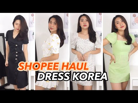 KOREAN DRESS SHOPEE HAUL murah murah