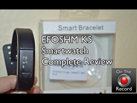 7f0237bbd $30 EFOSHM K5 Smartwatch Review - YouTube