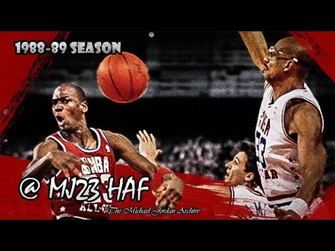 Michael Jordan Highlights (1989 All-Star Game) - 28pts